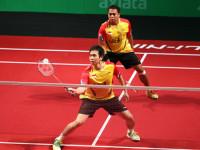Kido dan Hendra sumbang satu poin untuk Indonesia dalam axiata cup 2014/detik.com