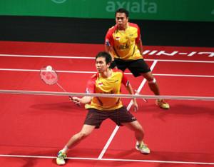 Kido dan Hendra sumbang satu poin untuk Indonesia/detik.com
