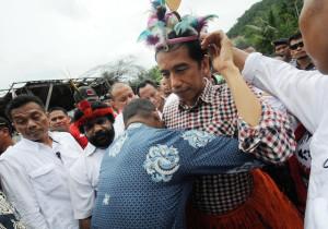 Jokowi saat kampanye di Papua