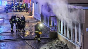 masjid terbakar swedia