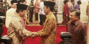 Nusron Wahid saat dilantik Jokowi (foto:merdeka.com)