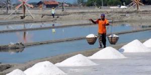 petani garam di Pamekasan (foto: Kompas)