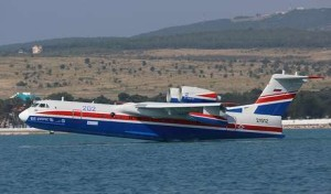 Pesawat Amfibi Be-200 Milik Rusia