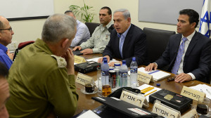 Netanyahu at security assessment meeting with IDF officials (Photo: Kobi Gideon/GPO)