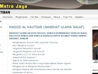 Situs Polda Metro Jaya Disusupi Wahabi?