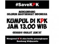 Aktivis Anti-Korupsi Padati Gedung KPK, Sosialisasikan Gerakan #SaveKPK