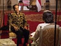 Presiden Jokowi saat diwawancarai CNN (foto: cnn)