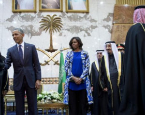 michelle obama di riyadh