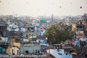 Festival layang-layang di Ahmedabad