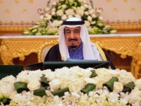 A handout picture released by the Saudi Press Agency (SPA) on February 2, 2015 shows Saudi new King Salman bin Abdulaziz chairing the cabinet meeting in the capital, Riyadh. AFP/SPA