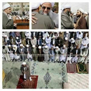 Shalat Jum'at persaudaraan di kota Zahedan Iran, warga Sunni dan Syiah menyelenggarakan shalat