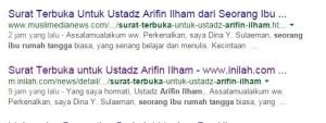 Surat ini dipublikasi juga oleh Muslimedianews (MMN) dan Inilah.com, tetapi oleh MMN, artikel ini juga dihapus. :)