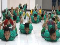Timnas U-23 sedang berlatih di GOR Delta Sidoarjo/jawapos