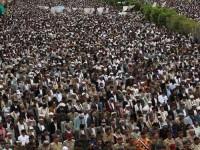 Unjuk Rasa Akbar Anti Intervensi Asing Warnai Ibu Kota Yaman