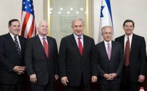 Israeli PM Netanyahu meets U.S. Senators in Jerusalem