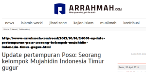 Arrahmah Mujahidin Indonesia Timur