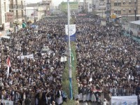 Gelombang Protes Anti Serangan Saudi Kembali Landa Ibu Kota Yaman