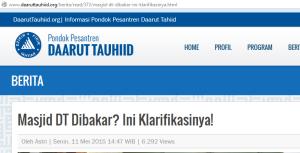 Klarifikasi dari Daarut Tauhid