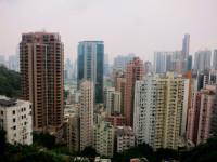 Gedung pencakar langit di Hongkong