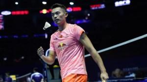 Lin Dan dalam penyisihan Piala Sudirman/AFP Photo