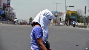 suhu panas india