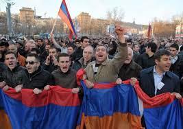 aksi protes armenia