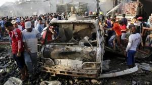 serangan bom isis di baghdad irak
