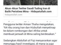 Syiah Dituding Sebagai Dalang Tragedi Mina, Benarkah?