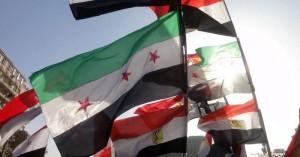 bendera mesir dan suriah di kairo