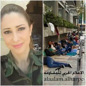 Ranim Basha seorang penyiar yang bergabung dengan Tentara Suriah