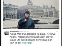 Benarkah ANNAS, Proyek Kebencian Berbalut Agama Didanai Arab Saudi?