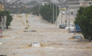 banjir di jeddah saudi