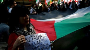 demo anti israel di argentina