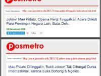 Membantah Hoax Pos Metro, Jokowi Batal Pidato di Paris?