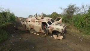 mobil militer saudi di jizan