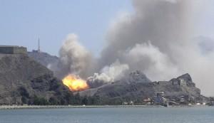 عشرات القتلى لتحالف العدوان بقصف يمني في باب المندب