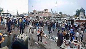 ارتفاع عدد شهداء الاعتداء الارهابي في مدينة الصدر الى 70 +صور