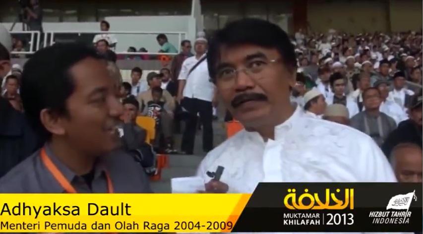 Image result for Adhyaksa Dault Pendukung HTI