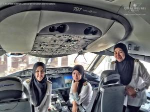 pilot wanita brunei