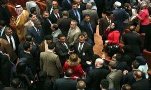 parlemen irak ricuh