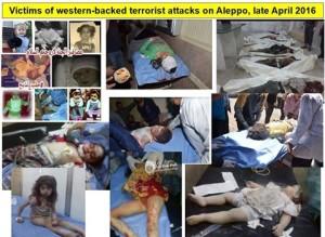 Korban teror di Aleppo