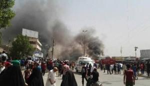 95 شهيدا وجريحا بتفجير مدينة الصدر الارهابي +صورة