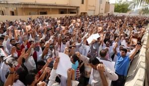 شعب البحرين يواصل اعتصامه أمام منزل الشيخ قاسم
