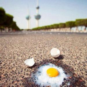 suhu panas di kuwait