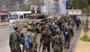 patroli pasukan suriah di aleppo