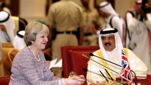 PM Inggris dan Raja Bahrain (AFP/presstv)