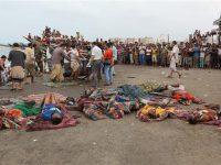 Jenazah pengungsi Somalia yang menjadi korban serangan koalisi Saudi (Foto: Reuters)
