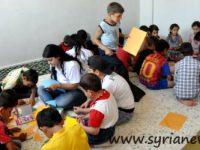 anak-anak di kamp pengungsi di Damaskus