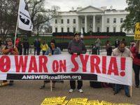 Protes Serangan AS ke Suriah, Demonstran Berkumpul di Depan Gedung Putih
