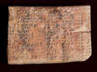 Potret Plimpton 322, balok bersejarah peninggalan Bangsa Babilonia.